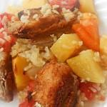TELETINA SA RIŽOM I POVRĆEM: Kompletan ručak u jednoj tepsiji