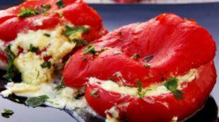 Pečene paprike punjene feta sirom