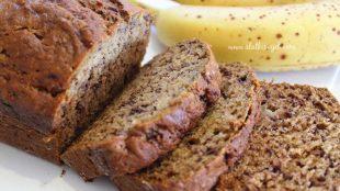 Banana kruh s raženim brašnom