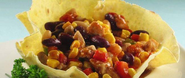 Tortilje s piletinom i grahom