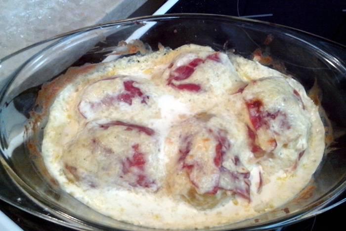 Krumpir u šunki ili slanini