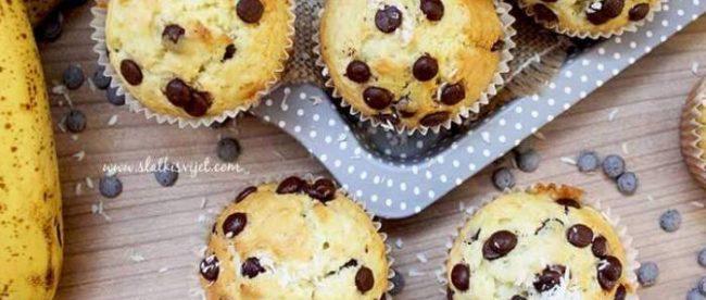 Choco chip muffini