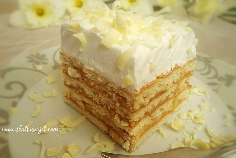 Kolač s keksima i pudingom od vanilije